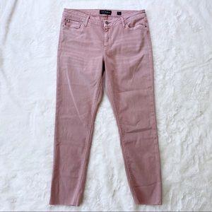 Lucky Brand Lolita Skinny Jeans Raw Hem Blush Pink